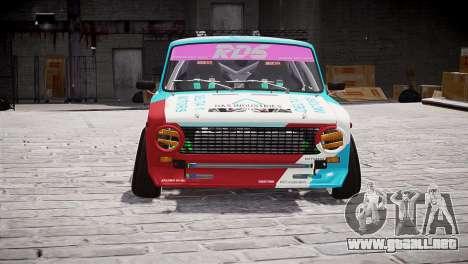 VAZ 2101 para GTA 4 Vista posterior izquierda