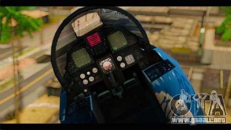 F-15E 303rd TFS Fighting Dragons para GTA San Andreas vista hacia atrás