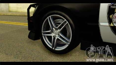 Toyota Altezza Police para GTA San Andreas vista posterior izquierda
