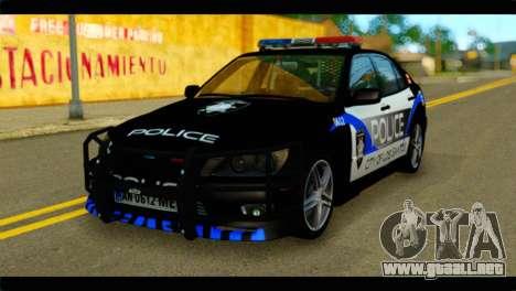 Toyota Altezza Police para GTA San Andreas