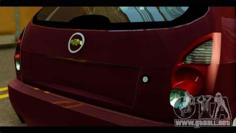 Chevrolet Celta VHC 1.0 para GTA San Andreas vista hacia atrás