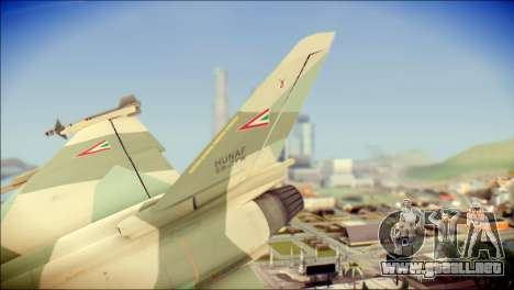 EuroFighter Typhoon 2000 Hungarian Air Force para GTA San Andreas vista posterior izquierda