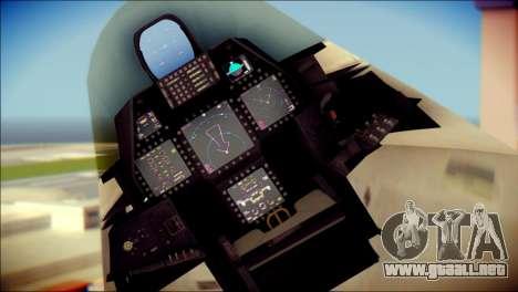FA-18D Hornet Blue Angels para la visión correcta GTA San Andreas