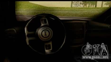 Jeep Grand Cherokee SRT8 2014 para visión interna GTA San Andreas