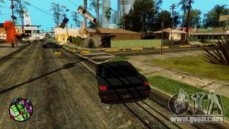 Transporte V2 en lugar de balas para GTA San Andreas segunda pantalla