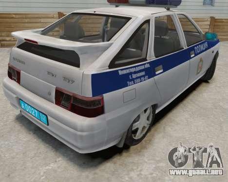VAZ 2112 DPS para GTA 4 vista interior