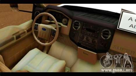Ford F-350 Bus para la visión correcta GTA San Andreas
