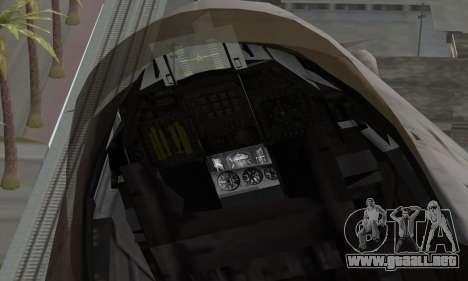 F-16XL para la visión correcta GTA San Andreas
