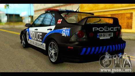 Toyota Altezza Police para GTA San Andreas left