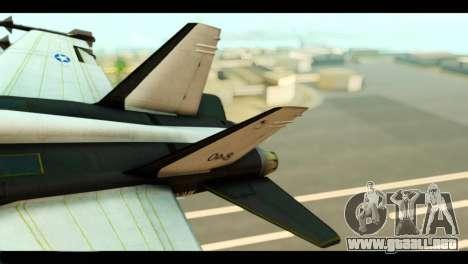 McDonnell Douglas FA-18 HARV v2 para GTA San Andreas vista posterior izquierda