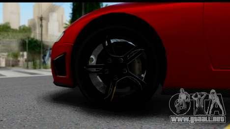 GTA 5 Overflod Entity XF para GTA San Andreas vista hacia atrás