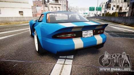 Bravado Banshee Double Stripe para GTA 4 Vista posterior izquierda