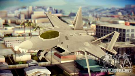 FA-18D Hornet Blue Angels para GTA San Andreas vista hacia atrás