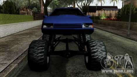 Monster Cadrona para GTA San Andreas vista hacia atrás