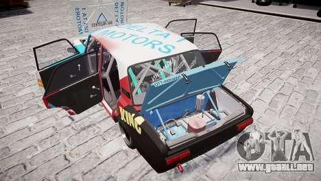 VAZ 2101 para GTA 4 vista desde abajo