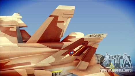 F-18D NSAWC para GTA San Andreas vista posterior izquierda