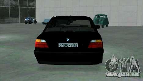 BMW 750i e38 para la visión correcta GTA San Andreas