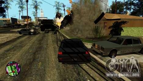 Transporte V2 en lugar de balas para GTA San Andreas séptima pantalla