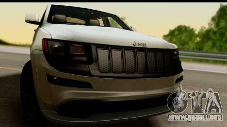 Jeep Grand Cherokee SRT8 2014 para GTA San Andreas vista posterior izquierda