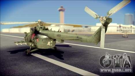 Mil Mi-8 Polish Air Force Afganistan para GTA San Andreas left