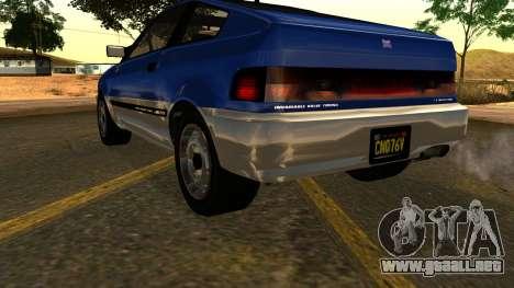 GTA 5 Dinka Blista Compact IVF para vista lateral GTA San Andreas