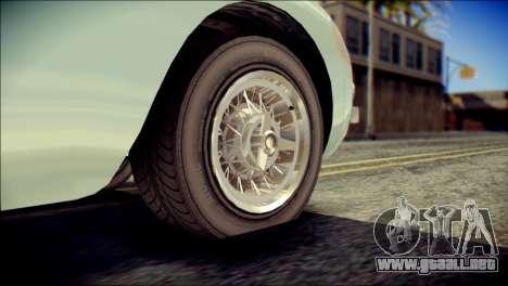 GTA 5 Dewbauchee JB 700 IVF para GTA San Andreas vista posterior izquierda