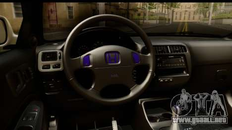 Honda Civic Si Coupe para visión interna GTA San Andreas