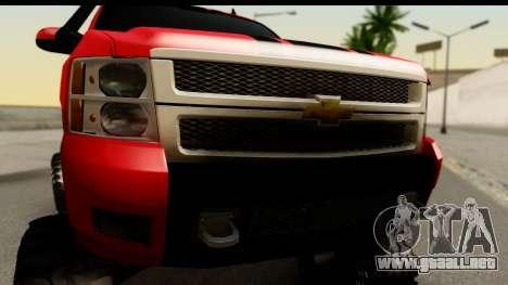 Chevrolet Silverado OffRoad para GTA San Andreas vista posterior izquierda