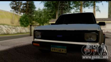 Fiat 128 para GTA San Andreas vista posterior izquierda