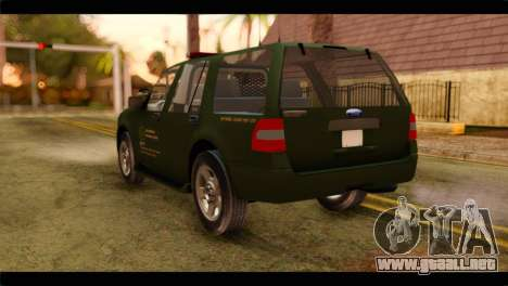 Ford Expedition 2009 SANG para GTA San Andreas left