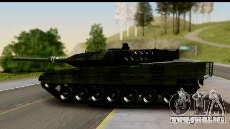 Leopard 2A6 Woodland para GTA San Andreas vista posterior izquierda