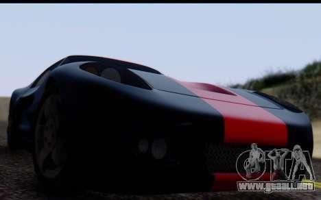 Bullet PFR v1.1 HD para GTA San Andreas vista posterior izquierda