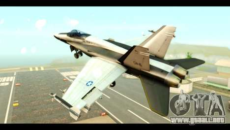 McDonnell Douglas FA-18 HARV v2 para GTA San Andreas left