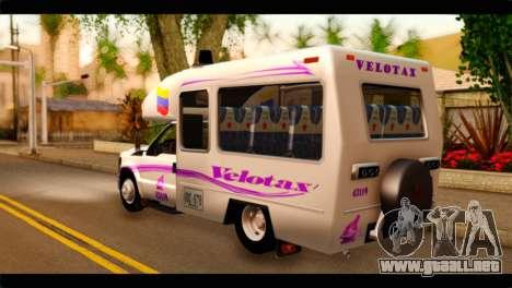 Ford F-350 Bus para GTA San Andreas left