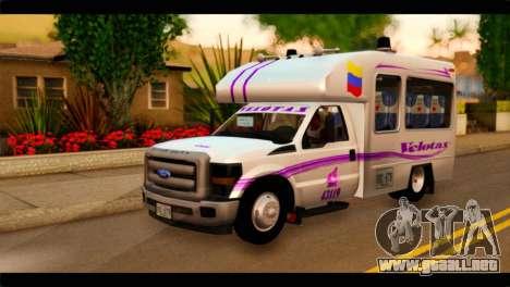 Ford F-350 Bus para GTA San Andreas