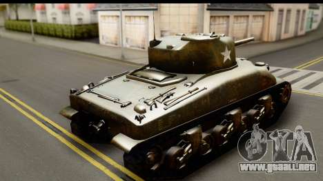 M4A1 Sherman First in Bastogne para GTA San Andreas left