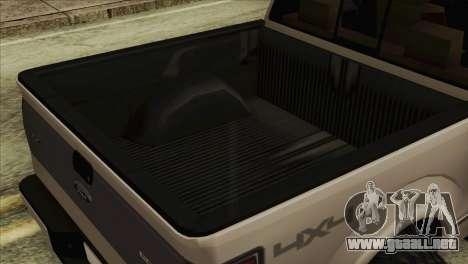 Ford F-150 Platinum 2013 4X4 Offroad para la visión correcta GTA San Andreas