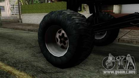 Monster Cadrona para GTA San Andreas vista posterior izquierda