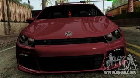 Volkswagen Scirocco R para GTA San Andreas vista hacia atrás