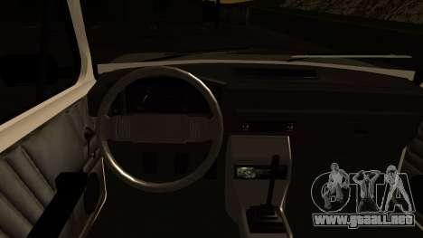 Fiat 128 para visión interna GTA San Andreas
