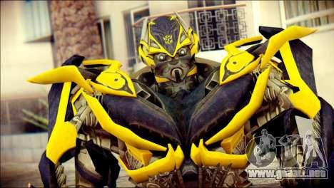 Bumblebee Skin from Transformers para GTA San Andreas tercera pantalla