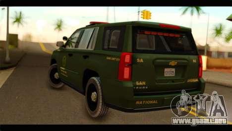 Chevrolet Suburban 2015 SANG para GTA San Andreas left