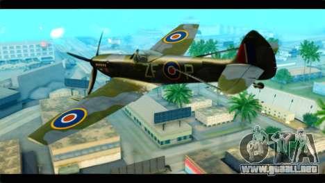 Supermarine Spitfire F MK XVI 318 SQ para GTA San Andreas left