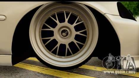 Honda Civic Si Coupe para GTA San Andreas vista hacia atrás