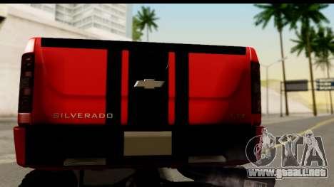 Chevrolet Silverado OffRoad para la visión correcta GTA San Andreas