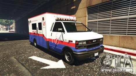 GTA 5 Ambulancia v0.7.2 segunda captura de pantalla