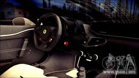 Ferrari 458 Speciale 2015 para la visión correcta GTA San Andreas