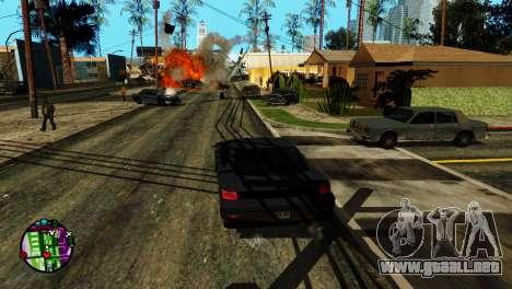 Transporte V2 en lugar de balas para GTA San Andreas quinta pantalla