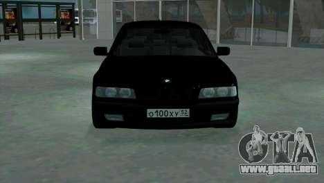 BMW 750i e38 para visión interna GTA San Andreas