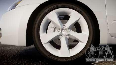 Nissan Altima 3.5 SE para GTA 4 vista hacia atrás